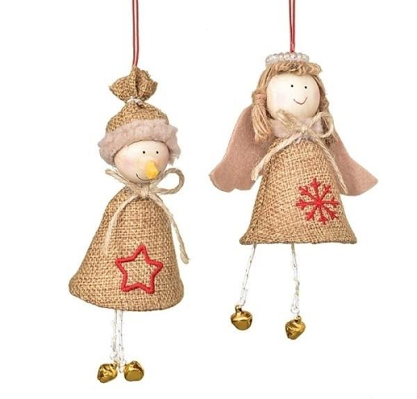 Vánoční dekorace sněhulák, anděl