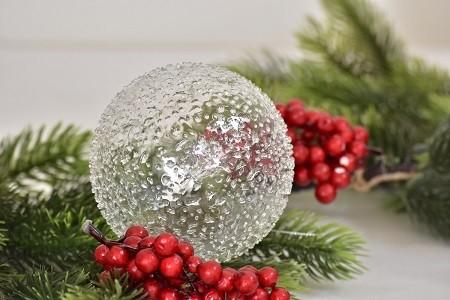 Skleněná vánoční baňka - M