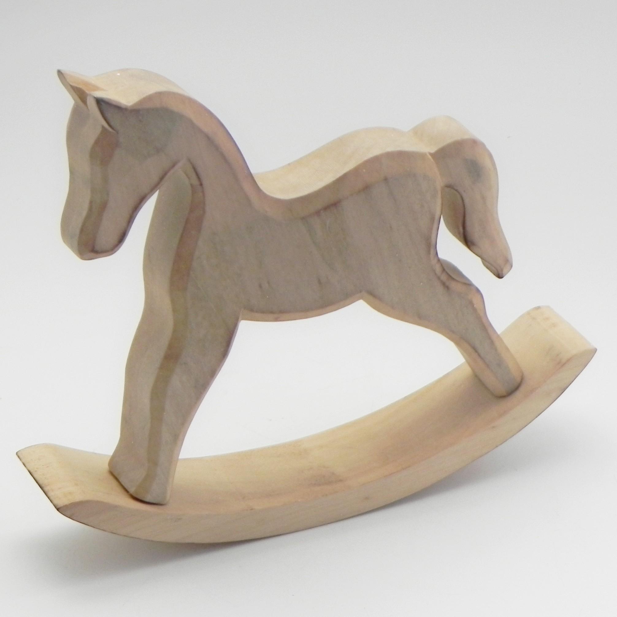Houpací kůň dřevo natural