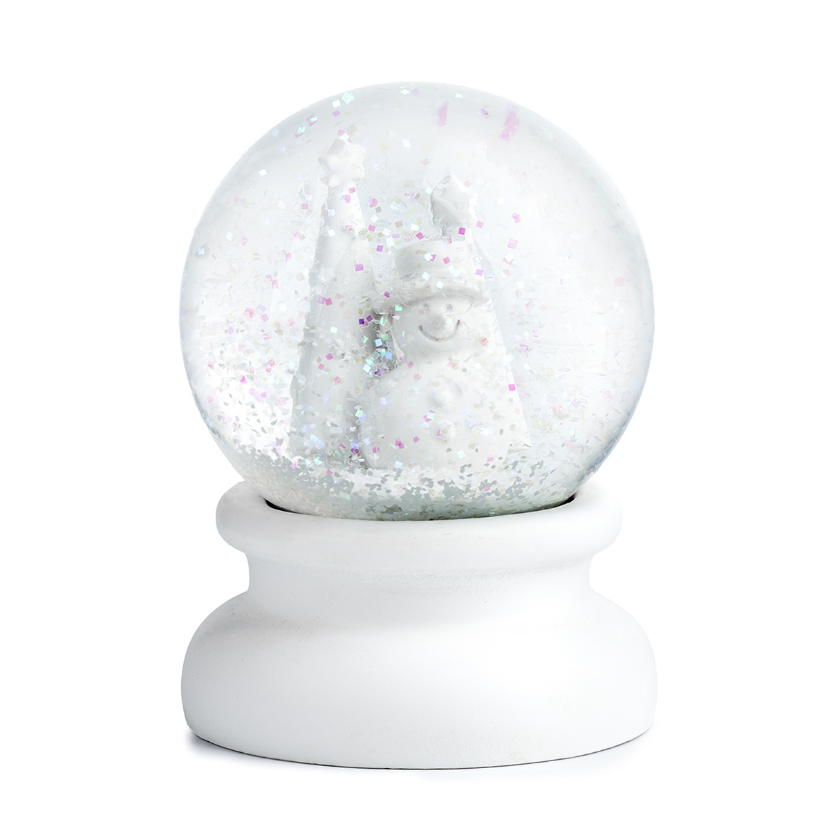 Sněžítko sklo/sádra 11cm bílá