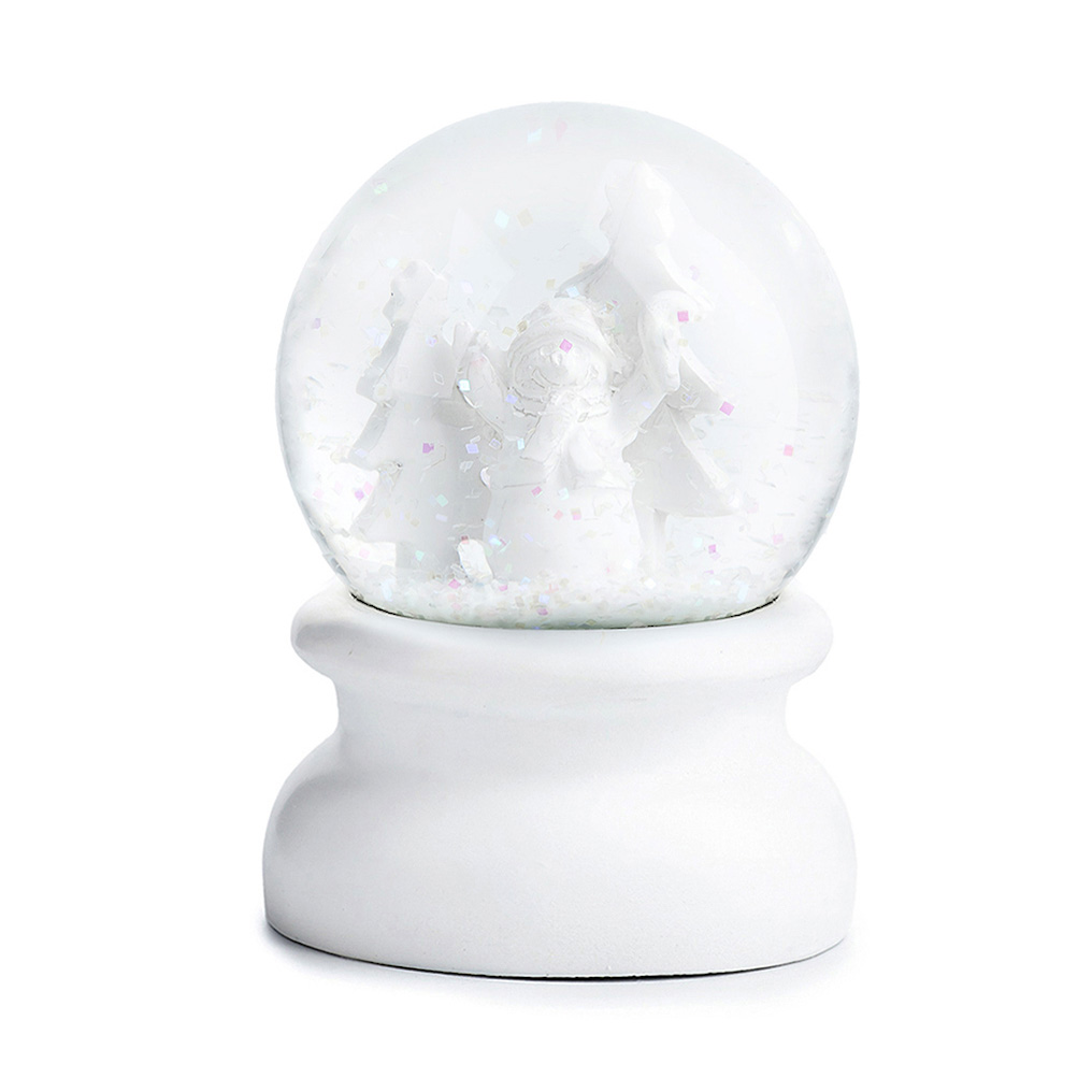 Sněžítko sklo/sádra 9cm bílá