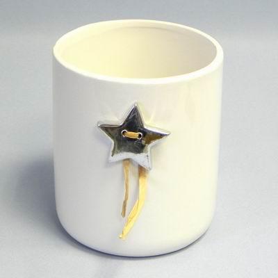 Váza keramika pr.15,3x17,8 cm bílá