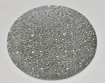 Skleněný tác 25 cm, stříbrný mražený