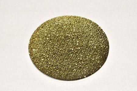 Skleněný tác 15 cm, zlatý mražený