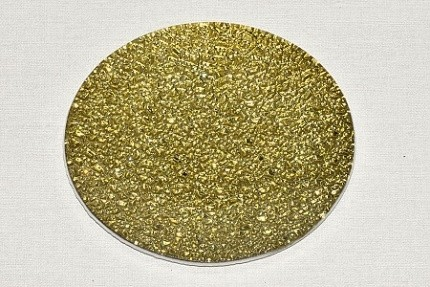 Skleněný tác 20 cm, zlatý mražený