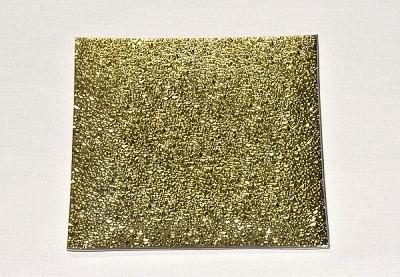 Skleněný tác 24,5 x 24,5 cm, zlatý mražený