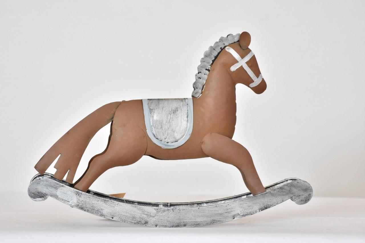 Kovový houpací kůň 20,5 cm