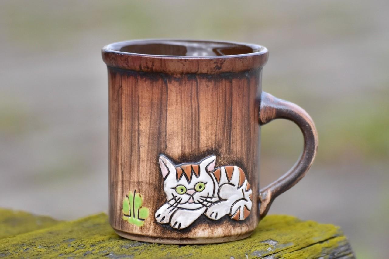 Keramický hrnek Kočka 350ml