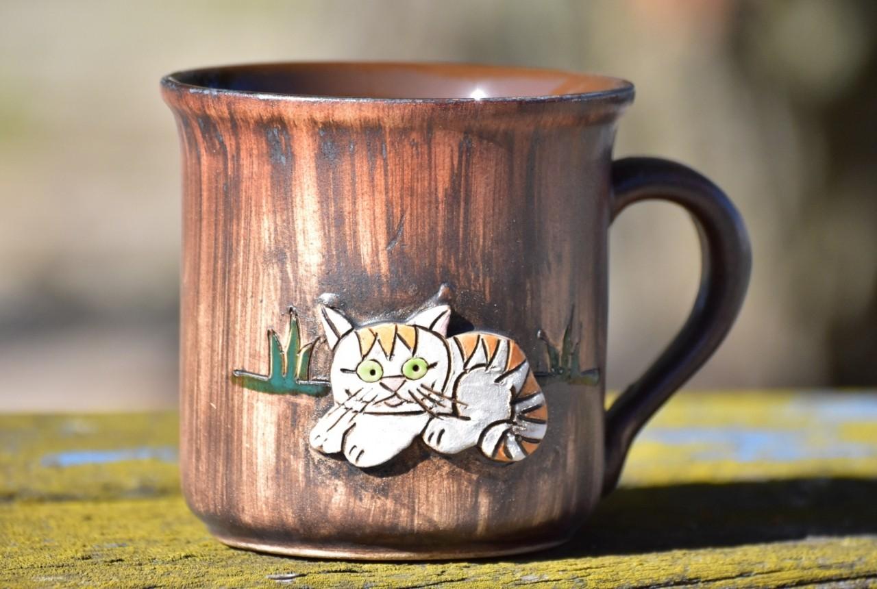 Keramický hrnek Kočka 500ml